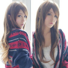 Sexy Fashion Brown Wig Women Curly Wavy Long Hair Wigs Cosplay Party Full Wigs