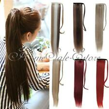 """20"""" Wrap Around Clip In Ponytail Hair Extension Piece Straight Long 18 Colors"""