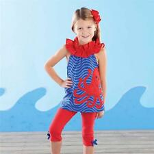 Mud Pie Girls Boathouse Baby Collection Octopus Tunic Leggings Set  1112100 New