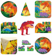 Kit décoration de table - assiette serviette, dinosaure