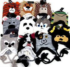 Animal Hats Knit Winter Snowboard Ski Skull Cap Hat 11 Styles Costume Beanie NWT