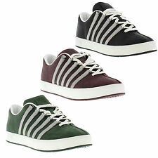 K-Swiss Classic II Mens Fashion Leather Trainers Lace Up Shoes Sizes UK 7 - 12