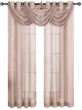 Abri Mauve Grommet crushed sheer curtain panel.