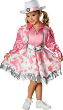 Girls Cowgirl Costume Fancy Dress Pink Cow Girl Cowboy Western Rodeo Childs NEW