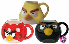 NEW COOL ANGRY BIRDS 3D CERAMIC COFFEE TEA CUP MUG BOXED