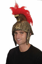Roman Spartan Helmet Gold W Red Feathers 20799