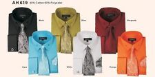 Men's High Quality Fashion Dress Shirt withTie&Hanky and French Cuff links AH619
