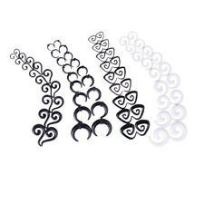 1SET 9 Pair Spiral EAR STRETCHING KIT-00G-14G Flesh Tunnel Stretcher GAUGE Taper