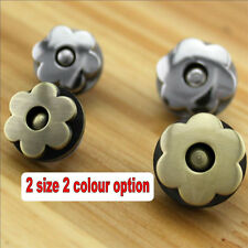 1x Flower Shape Magnetic Bag Clasp Button S/M DIY Handbag Purse craft accessory