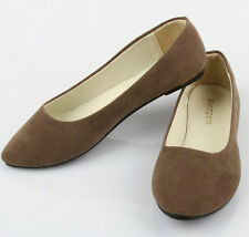 New Women's Ladies Ballerina Dolly Microsuede Pump Womens Slippers Flat Shoes
