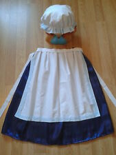 (NS3) GIRLS FANCY DRESS COSTUME Victorian Edwardian Tudor Skirt Apron Mop Cap NV