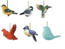 BIRD CEILING FAN PULL - CARDINAL, GOLDFINCH, BLUE JAY, HUMMINGBIRD, CHICKADEE