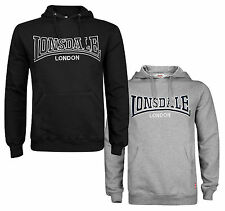 Lonsdale BERGER Hooded Sweatshirt Sweater Hoodie Boxing Black or Grey S-XXL