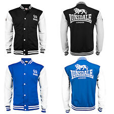 Lonsdale MONTE College Baseball Sweat Jacket Sweatshirt Black Blue Blouson S-XXL
