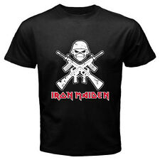 New IRON MAIDEN - Hell Night Metal Rock Band Men's Black T-Shirt Size S to 3XL