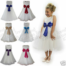 Flower Girl Dress Girls Bridesmaid Dress Party Dress Wedding Formal Wear 2-13Y