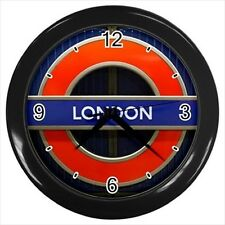 London Sign Text Design - Wall Clock (Choose from 7 Colors) -HH4623