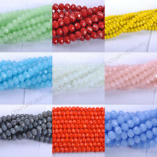 40pcs Top Quality Czech Chic Glass Faceted Rondelle Spacer Charms Beads 8X6MM