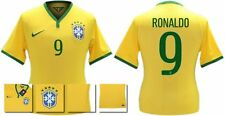 *14 / 15 - NIKE ; BRAZIL PLAYER ISSUE HOME SHIRT SS / RONALDO 9 = SIZE*