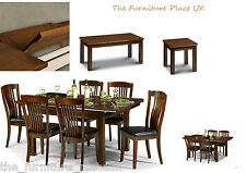 Classic Mahogany Extending Dining Set 4 6 Chairs Lamp Coffee Table