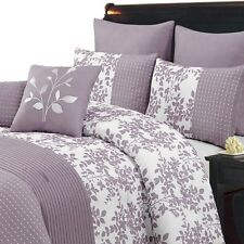 Bliss Purple Luxury 12-Piece 100% Polyester Comforter Bedding Set
