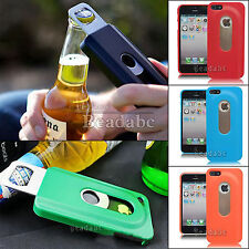 Slide out Beer Bottle Opener Protector Hard Case Cover For Apple iPhone4 4S 5 5S