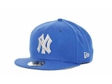 New York Yankees MLB G-Series New Era 59Fifty Flat Brim Fitted Hat Cap Azure NY