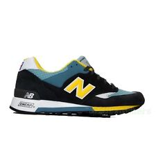 "New Balance ""Seaside"" M577GBL (Black/Blue/Yellow) Men's Shoes Made in UK"