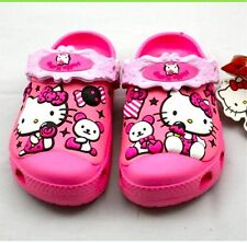 New CROC Children Water Shoes Clogs Size 6-7 8-9 10-11 12-13 Love Kitty
