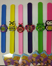 KIDS BOYS GIRLS SILICONE SNAP WATCH BRACELET ANIMAL DESIGN WATCHES FOR KIDS