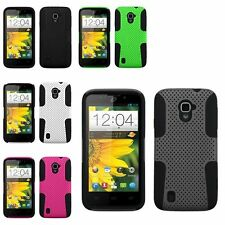 Double Layer Net Grey Black Protector Case For ZTE Majesty Z796C Source N9511