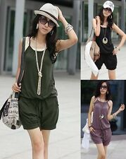 hot Fashion Ladies Sleeveless Spaghetti Strap Jumpsuit Romper Casual Pants