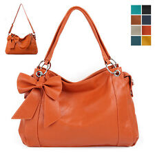 New Womens Ladies Tote Handbag Hobo Bag Purses Ribbon Shoulder Bag [B1245]