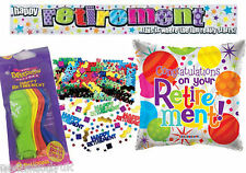 Retirement Party Decorations - Male Female Leaving Work Balloons Banner Confetti
