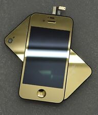 Metallic Gold LCD Touch Screen Glass Digitizer Replacement For iPhone 4G CDMA 4s
