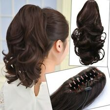 Woman Short Wavy Curly Claw Ponytail Clip in/on Hair Extensions Hairpiece  BP42