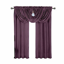 Purple Soho Rod Pocket Window Treatment,Single Panel OR Single Waterfall Valance