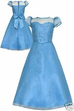 Girl Ocean Blue Dress National Pageant Wedding Formal Party size 4 6 8 10 12 14