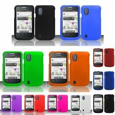 Colorful Rubberized Hard Case Snap On Phone Cover For ZTE Concord V768 T-Mobile