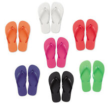 10 X Ladies Flip Flops - Party Favour Shoes Wedding - Plain SPA Sandals - Beach