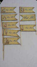 Alice in Wonderland Party Pack - Bunting, Party Bags, Straws & Cake Toppers