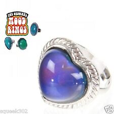 MOOD RING ~ Color Change Chart ~ VINTAGE ~ 70s Style ~ OVAL/ROUND/DROP New
