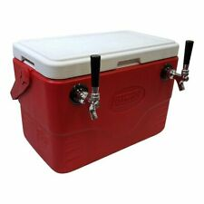 Jockey Box - Double Faucet, 50' Stainless Steel Coils, 28 Qt Cooler - Draft Beer
