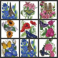 From Paris With Love ( Eiffel Tower,Flowers, Butterfly Embroidered Iron On Patch