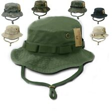 Woodland Camo Military Boonie Hunting Army Fishing Bucket Jungle Cap Hat M L XL