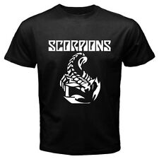 New SCORPIONS Rock Band Classic Metal Logo Men's Black T-Shirt Size S to 3XL