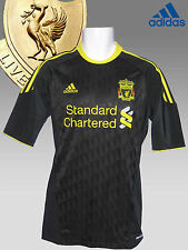 New Authentic ADIDAS LIVERPOOL FOOTBALL Shirt PLAYER ISSUE Black  S/Slvd M-L