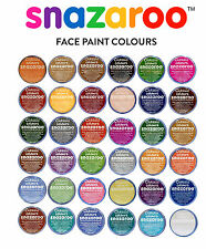 Professional 18ml SNAZAROO FACE PAINTS Choose your own 10 Classic Colours