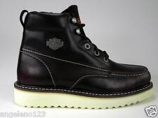 Harley Davidson Beau Men Wedge Boots Oxblood Red Contemporaine Resisant Shoes