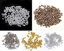 100 Pcs Silver/Gold/Copper/Bronze Tone Copper Metal Spacer Beads for Diy 3mm